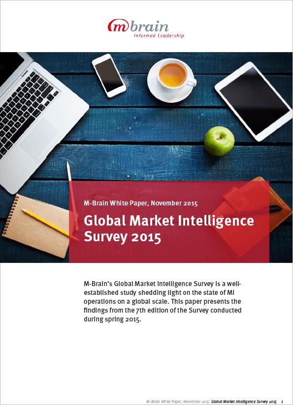 M-Brain Market Intelligence Survey 2015
