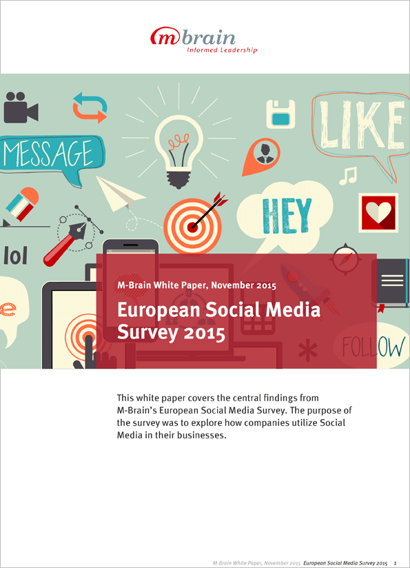 M-Brain European Social Media Survey 2015