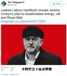 Labour manifesto reveals Jeremy Corby's plan to renationalise energy, rail and Royal Mail